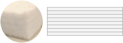 多層式吸水敷布団の中綿について