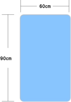 60x90cmのミニサイズの敷布団。ミニベッド対応