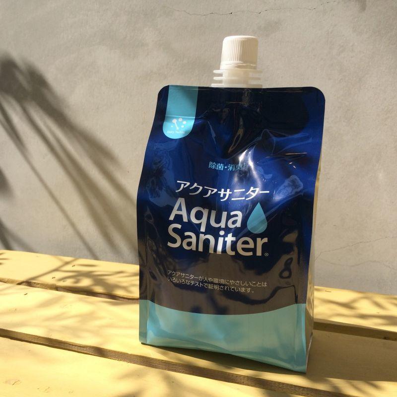 画像1: 除菌水「手にやさしい」アクアサニター 詰め替え用1リットル(ボトルなし)