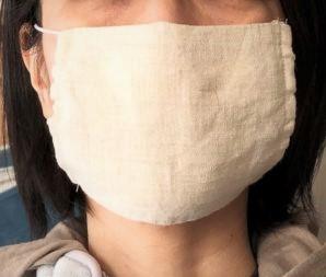 画像1: 洗って繰り返し使えるヘンプのマスク
